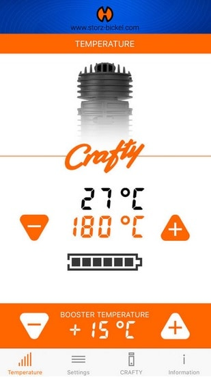 Crafty app temperatureinstellungen